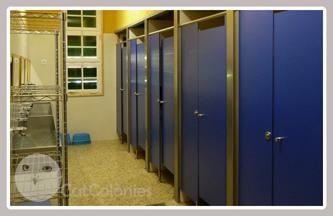 Les dutxes i els lavabos
